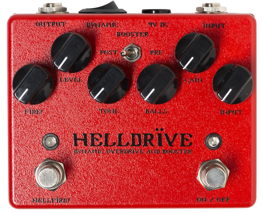 WEEHBO Guitar Products - HELLDRIVE V3 - Dynamic Overdrive and Booster