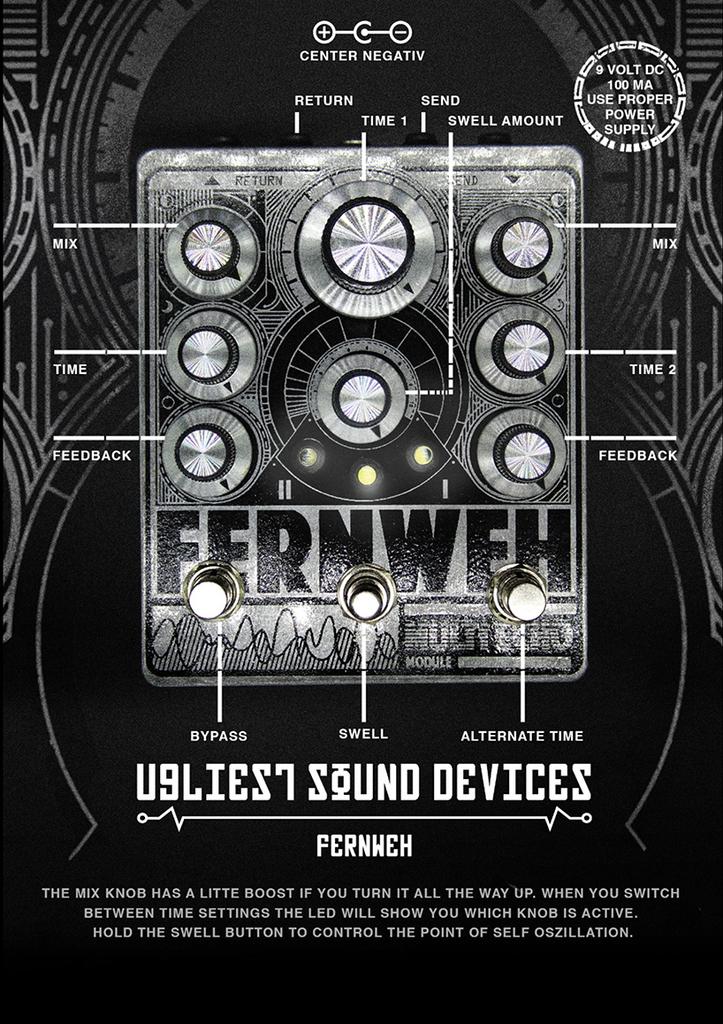 JPTR FX - Fernweh - Dual Delay Pedal
