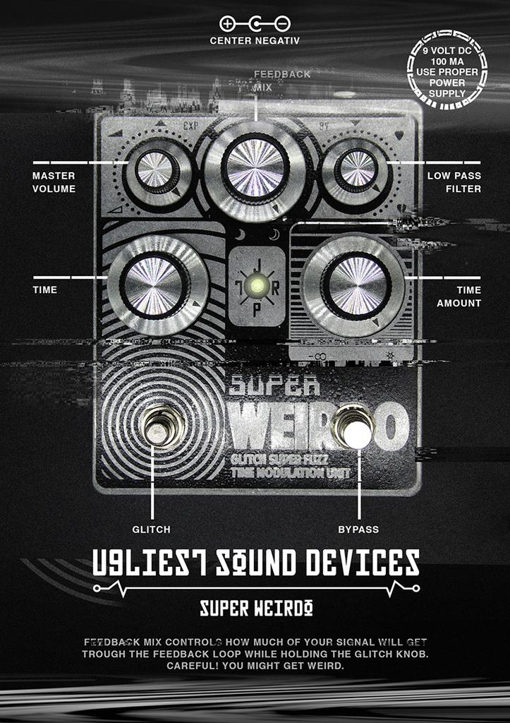 JPTR FX - Super Weirdo - Fuzz Modulator Pedal