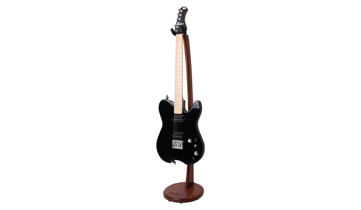 Electric-Acoustic-guitar-stand-mahogany-hardwood-5