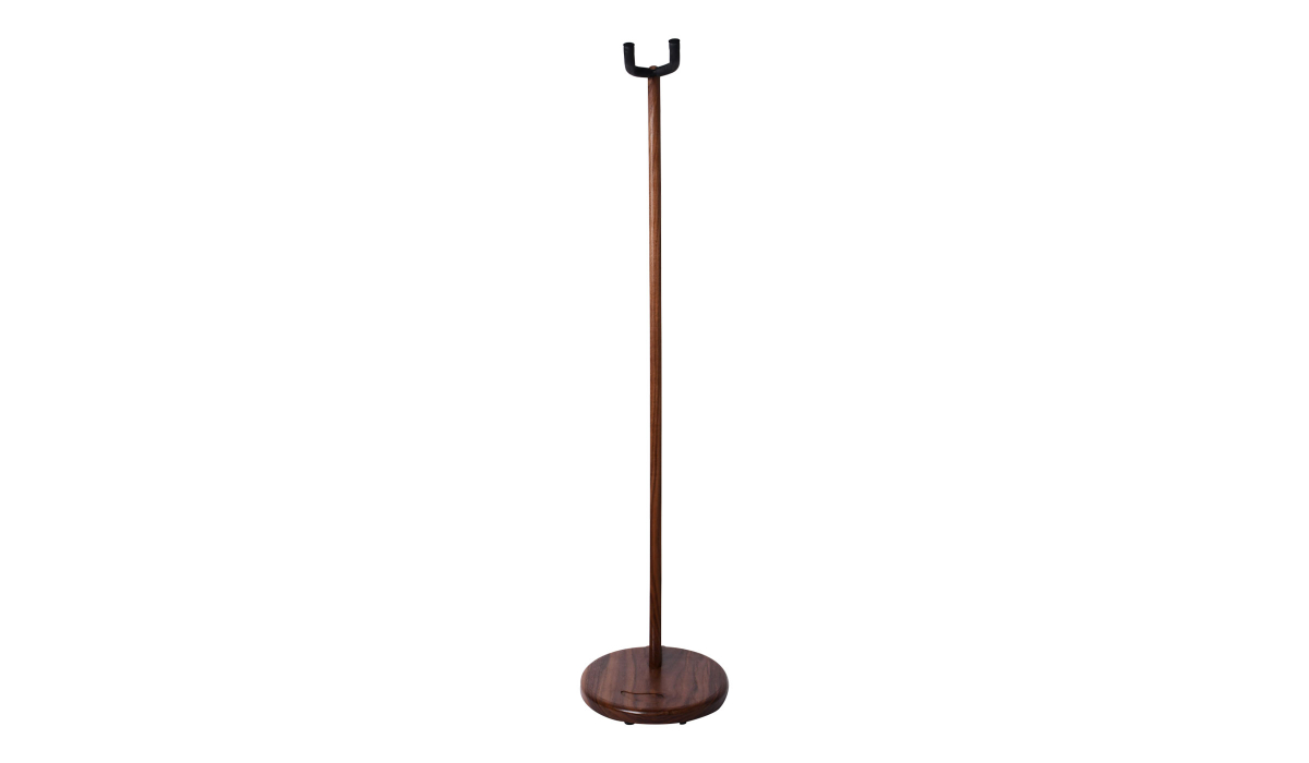 Electric-Acoustic-guitar-stand-walnut-hardwood-5