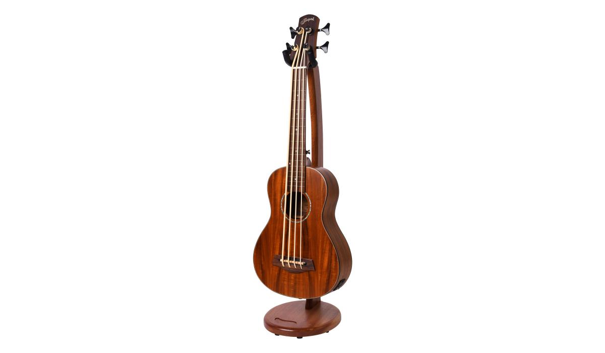Electric-Ukelele-guitar-stand-mahogany-hardwood-1