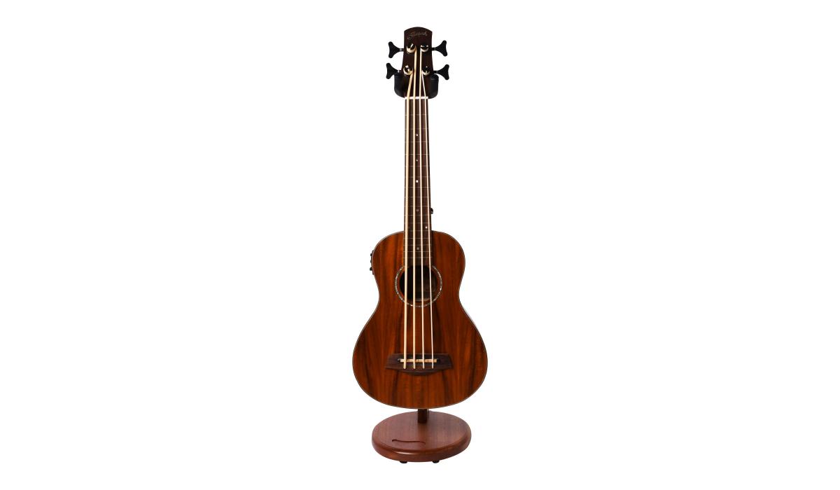 Electric-Ukelele-guitar-stand-mahogany-hardwood-5