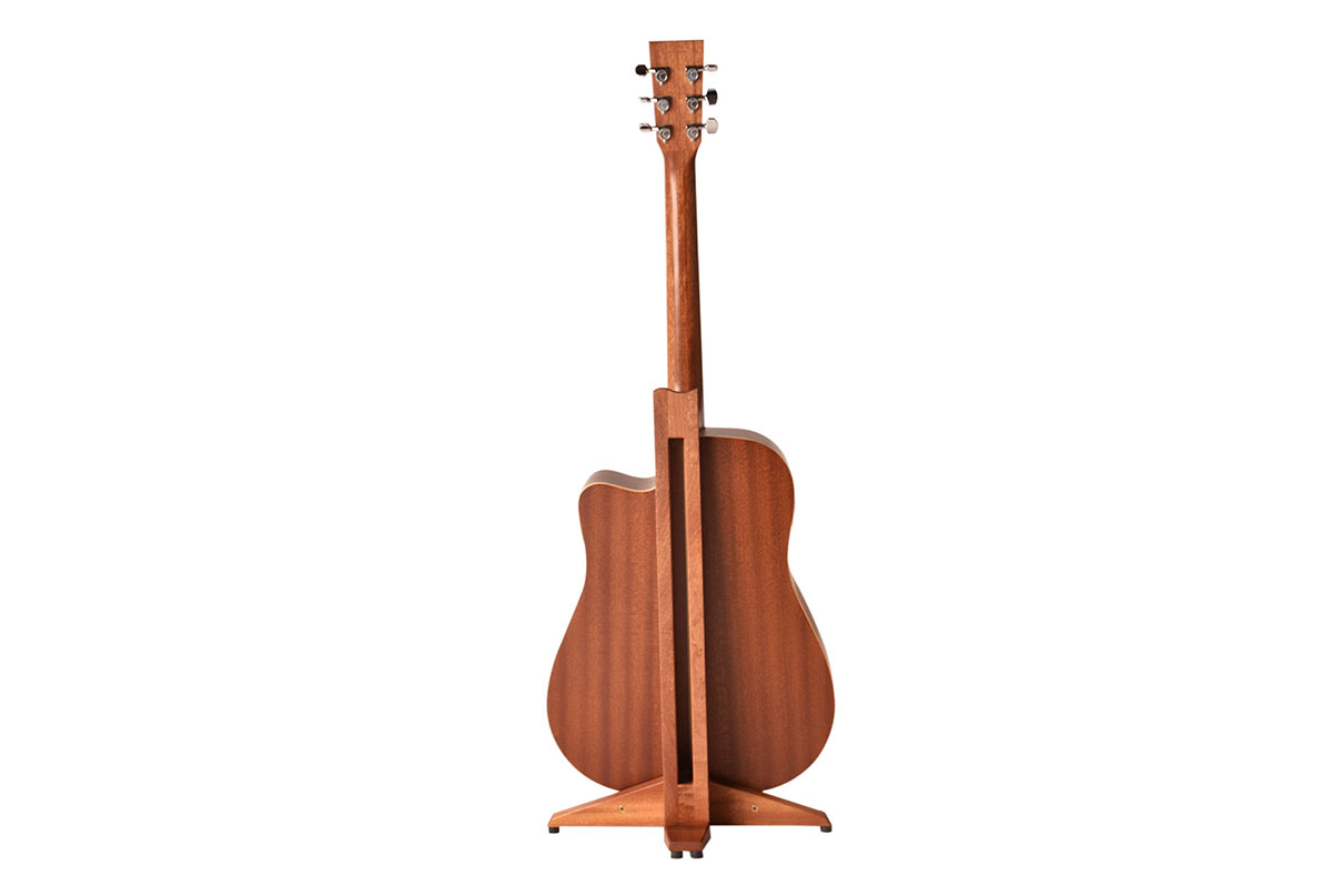 NOruach-magnetic-foldable-foldaway-take-apart-transportable-studio-home-living-guitar-stand-hardwood-wooden-click-together-handmade-mahogany-red12
