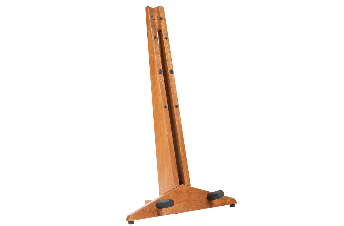 ruach-magnetic-foldable-foldaway-take-apart-transportable-studio-home-living-guitar-stand-hardwood-wooden-click-together-handmade-mahogany-red1