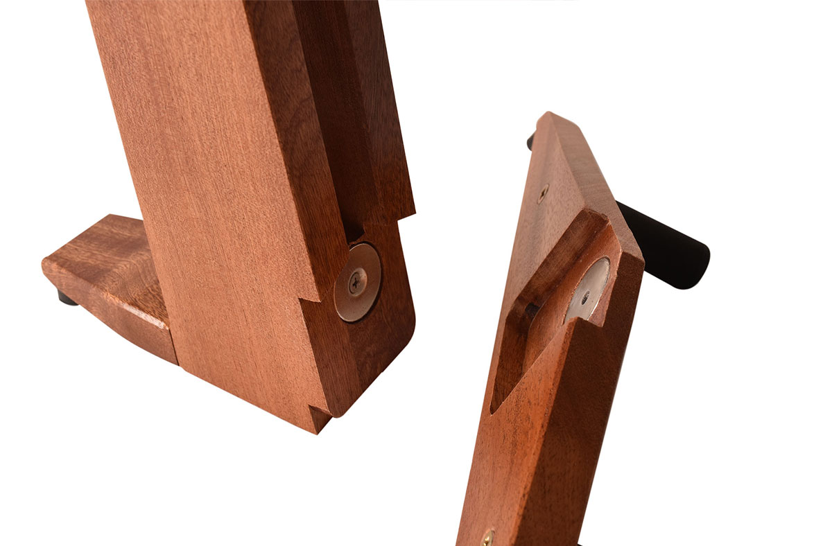 ruach-magnetic-foldable-foldaway-take-apart-transportable-studio-home-living-guitar-stand-hardwood-wooden-click-together-handmade-mahogany-red8